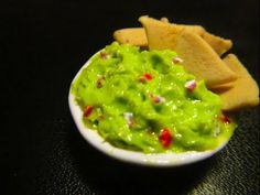 Polymer Clay-Guacamole and Chips