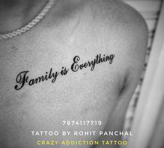 Family is Everything Family Is Everything, Name Tattoos, Tattoo Quotes, Addiction, Names, Tatuajes, Inspiration Tattoos, Quote Tattoos