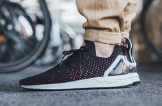 best loved d12b8 61548 The adidas ZX Flux ADV ASYM Stunts With Primeknit On Its Upper Adidas Zx  Flux,