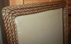 DIY Rope Frame Rustic Decor