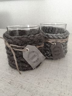www.createdbyjennie.nl Chrochet, Knit Crochet, Candels, Handmade Bags, Lana, Crochet Projects, Knits, Knitting Patterns, Candle Holders
