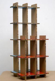Estantería modular / moderna / de cartón CDBOX A4A Design