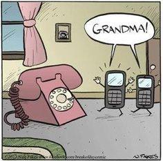 Old tech - New tech! Phone joke!