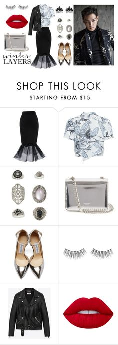 """""""One Last Time"""" by poisonivy19 on Polyvore featuring Whistles, Topshop, Rochas, Jimmy Choo, Urban Decay, Yves Saint Laurent, Lime Crime and Fallon"""