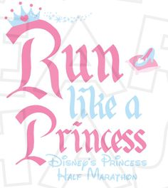 Run like a princess INSTANT DOWNLOAD digital clip art Image DIY for shirt :: My Heart Has Ears