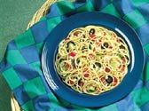 Spaghetti with Roasted Zucchini and Olives - FamilyTime.com -