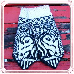 Irma Horse Mittens Pattern : Ravelry: Irma horse mittens pattern by JennyPenny Knitted Mittens Pattern, Fair Isle Knitting Patterns, Knit Mittens, Knitted Gloves, Knitting Socks, Baby Knitting, Knit Crochet, Crochet Hats, Horse Pattern