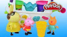 Peppa Pig garden Play doh Ice cream 2015 Peppa pig English episodes.