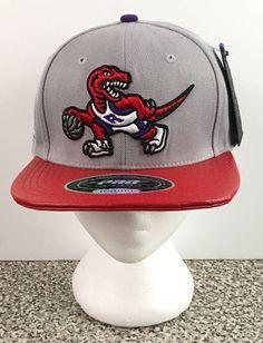 Pro Standard NBA Genuine Leather Strapback Toronto Raptors Dino Hat Cap Grey New #ProStandard #BaseballCap