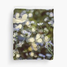 Boke Flowers - Duvet Cover -  by vampyba