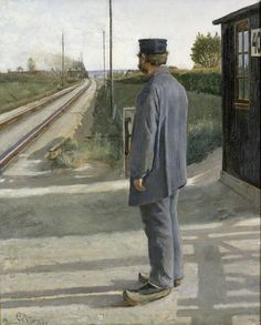 Ring, Laurits Andersen - 1884 The Lineman (National Museum, Stockholm, Sweden) National Art, National Museum, 1 John, 1 Peter, Danish Culture, Social Realism, Samuel Beckett, Scandinavian Art, Nordic Art