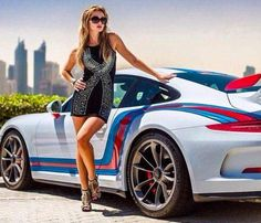 The Porsche 911 is a truly a race car you can drive on the street. It's distinctive Porsche styling is backed up by incredible race car performance. Porsche 911, Porsche Girl, Porsche Models, Porsche Carrera, Car Show Girls, Car Girls, Ferdinand Porsche, Sexy Cars, Hot Cars