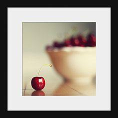 Voedsel fotografie keuken kunst zoete kers door MarianneLoMonaco