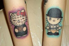 Hello KItty Pin Head from Hellraiser and Alex from Clockwork Orange