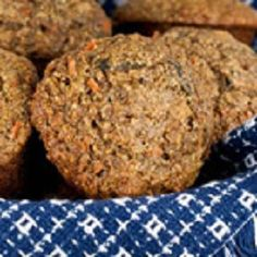 Recipe for oat bran muffins with flax meal, applesauce, carrots, apples, and cranberries. Zucchini Muffin Recipes, Zucchini Muffins, Healthy Muffins, Muffin Recipies, Fiber Rich Foods, High Fiber Foods, Oat Bran Muffins, Apple Muffins, Breakfast Muffins