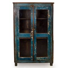 Vintage Teak Cabinet – Blue Large - From the Home Decor Discovery Community at www.DecoandBloom.com