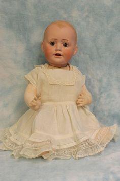 "Antique 17"" JDK Kestner Solid Dome Baby Jean Character Doll German Bisque c.1900"