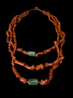 Morocco | Old Branch coral and amazonite necklace