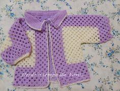 Já escrevi  AQUI no blog sobre o casaquinho de bebê feito a partir de um hexágono. Gostei tan...