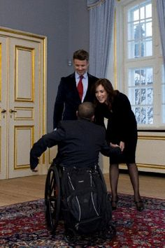 Crown Prince Frederik and Crown Princess Mary host a reception for the paricipants of the Paraolympics 2012, on 12 Dec