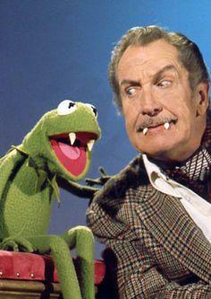 Vincent Price & Kermit the Frog.