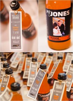 Cute UT Vols wedding favors - this can be done with any team and a colored soda in a bottle! Click to view more from this wedding.