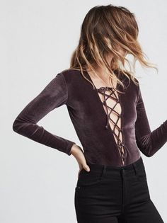 She's back. This time in velvet. The Avalon Bodysuit. https://www.thereformation.com/products/avalon-bodysuit-stella?utm_source=pinterest&utm_medium=organic&utm_campaign=PinterestOwnedPins