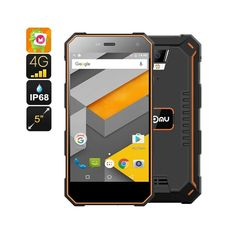 NOMU S10 Rugged Android Phone - Quad-Core CPU, Android 6.0, 4G, IP68, 5 Inch IPS Screen (Orange)