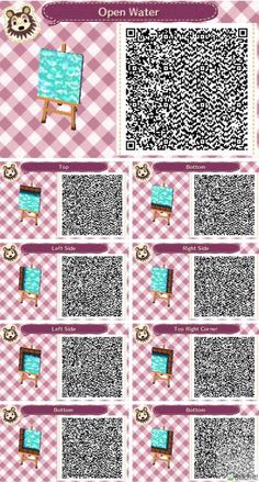 Acnl Water Path Qr Code Acnl Qr Codes Pinterest Qr