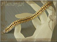 Beautiful picasso superduo beaded bracelet