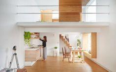 Minimalist Home in Taiwan with Open Mezzanine