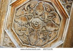 Vintage door detail in old town of Gyumri, Armenia. - stock photo