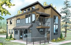 Parkview 30-905 - Narrow Lot Home Plan from Associated Designs