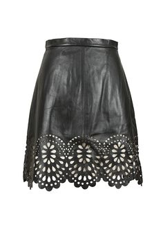 Lover Skirt :: Lover black perforated leather skirt | Montaigne Market