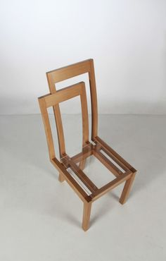 Meander Chair, two chairs in one by Anni Chego