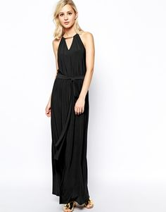 River Island maxi dress with metal detail