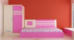 Picture of Emily Kids Bed Wardrobe Set