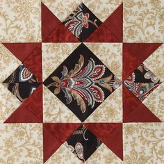 Mystery Quilt Block 2 Free Pattern designed by Monique Dillard of Open Gate Quilts Colchas Quilting, Quilting Projects, Quilting Designs, Quilt Block Patterns, Pattern Blocks, Crochet Patterns, All People Quilt, American Patchwork And Quilting, Civil War Quilts