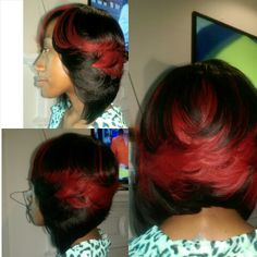 Full sew in Bob with no leave out @rylezhair 404-552-2131