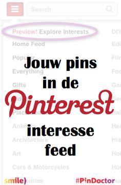 Zo worden jouw pins gevonden in de nieuwe #Pinterest interesse feed. Blog door Suzanne Wartenbergh