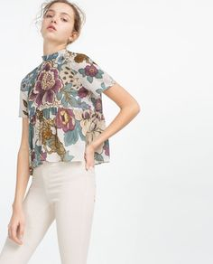 ZARA - WOMAN - TOP WITH TIE BACK