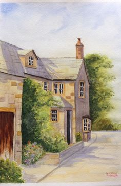 Cottage Down the Lane - inspired by Geoff Kersey from his Geoff's Top Tips for Watercolour Artists.