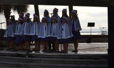 Local music students singing holiday cheer
