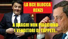 DRAGHI BLOCCA RENZI: L'ITALIA DEVE RIDURRE IL DEFICIT, NON SPENDERE DENARO. ABBASSATO IL LIMITE DEL 3% AL 2,6%