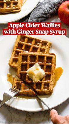 Vegan Breakfast Recipes, Vegan Recipes, Vegan Foods, Vegan Dishes, Ginger Snap Cookies, Vegan Butter, Peanut Butter, Waffle Recipes, Whole Food Recipes