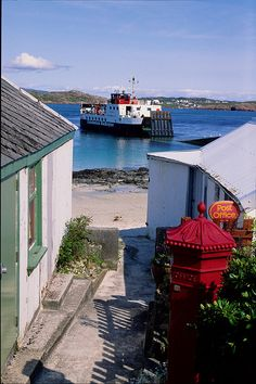 Iona Ferry, Isle of Iona, Scotland. Iona is hands down my favorite place on Earth. I was there as a teenager, and I long to go back!!! There is something truly magical about this small island!