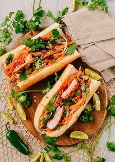 Vietnamese Cuisine, Vietnamese Recipes, Asian Recipes, Vietnamese Restaurant, Vietnamese Banh Mi, Vietnamese Sandwich, Ethnic Recipes, Authentic Pho Recipe, Banh Mi Recipe