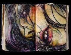 the story of a lie ~ artist duskemi #journal #altered_book