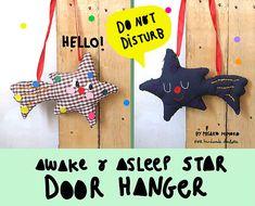 """Make a super cute """"do not disturb"""" star door hanger!"""