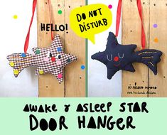 Let's make a cute 'Do not Disturb' Christmas door hanger! This awake-and-asleep star will be a...